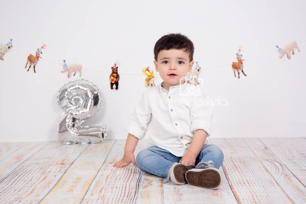sesión de fotos de bebés de 2 años