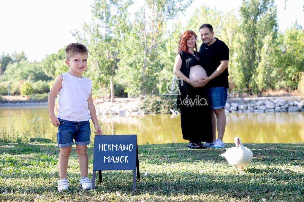 fotos de embarazo en familia