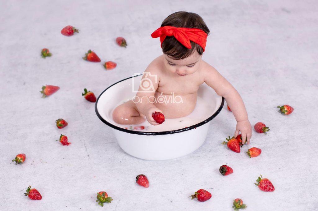 bath milk con fresas